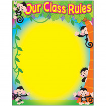 T-38441 - Our Class Rules Monkey Mischief Learning Chart in Classroom Theme