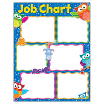 T-38445 - Job Chart Owl-Stars Learning Chart in Classroom Theme
