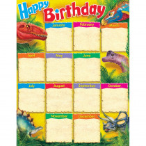 T-38494 - Birthday Discovering Dinosaurs Learning Chart in Classroom Theme