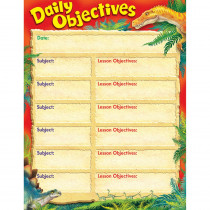 T-38495 - Daily Objectives Discovering Dinosaurs Learning Chart in Classroom Theme