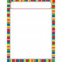 T-38634 - Stripe-Tacular Candy Learning Chart in Classroom Theme