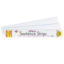 T-4001 - Wipe-Off Sentence Strips 30/Pk 24 X 3 in Dry Erase Sheets