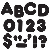 T-433 - Ready Letters 2 Inch Casual Black in Letters