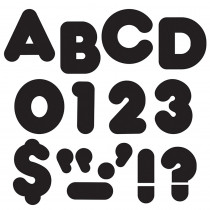 T-465 - Ready Letters 4 Inch Casual Black in Letters