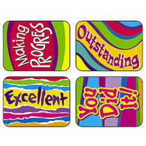 T-47124 - Applause Stickers Outstanding 100Pk Words Acid-Free in Motivational