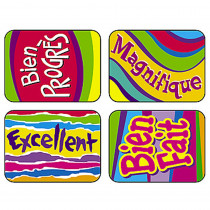 T-47126 - French Outstanding Applause Stickers in Foreign Language