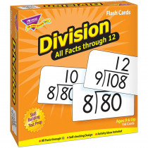 T-53204 - Flash Cards All Facts 156/Box 0-12 Division in Flash Cards