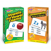 T-53907 - Vowels Consonants Flash Cards Asst Skill Drill in Letter Recognition