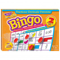 T-6142 - Fractions Decimals & Percents Bingo Game in Bingo