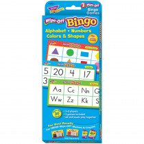 T-6601 - Alphabet Numbers Colors & Shapes Wipe Off Bingo in Games
