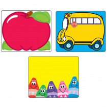 T-68907 - Classroom Classic Labels Variety Pk 108 Ct in Name Tags