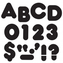 T-79001 - Ready Letters 3 Inch Casual Black in Letters