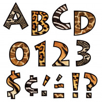 T-79248 - Animal Prints 4 Inch Venture Ready Letters in Letters