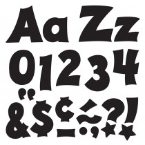 T-79802 - Black 4In Combo Pack Uppercase Lowercase in Letters