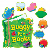 T-8155 - Bulletin Board Set Buggy For Books in Language Arts