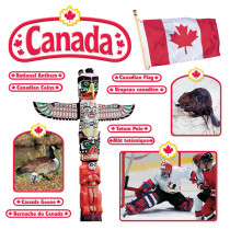 T-8172 - Bulletin Board Set Canadian Symbols Symboles Canadiens in Social Studies
