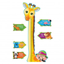 T-8176 - Bb Set Giraffe Growth Chart in Classroom Theme