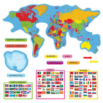 T-8259 - Continents & Countries Bulletin Board Set in Social Studies