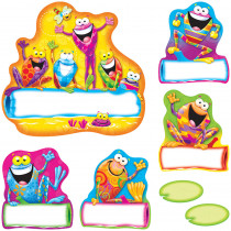 T-8330 - Frog-Tastic Helpers Bulletin Board Set in Classroom Theme