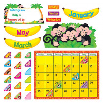 T-8340 - Monkey Mischief Calendar Bulletin Board Set in Calendars