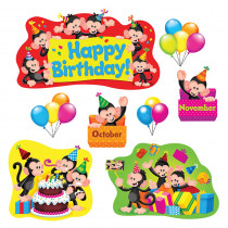 T-8341 - Monkey Mischief Birthday Bulletin Board Set in Classroom Theme