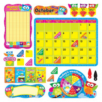 T-8363 - Owl Stars Calendar Bulletin Board Set in Calendars