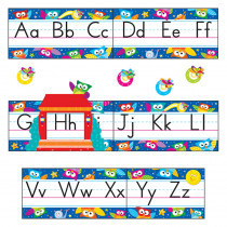 T-8364 - Owl Stars Alphabet Bulletin Board Set in Language Arts