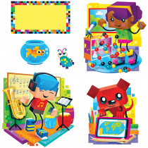 T-8380 - Blockstars Bulletin Board Set in Classroom Theme
