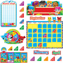 T-8381 - Blockstars Calendar Bulletin Board Set in Calendars