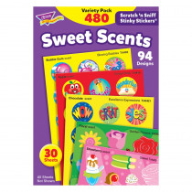 T-83901 - Stinky Stickers Sweet Shapes 456/Pk Acid-Free Super Saver Pk in Stickers