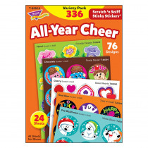 T-83919 - All-Year Cheer Stinky Stickers Scratch N Sniff Variety Pk in Stickers