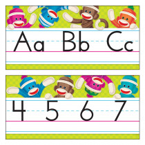 T-8415 - Sock Monkeys Alphabet Lines in Alphabet Lines