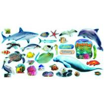 T-8603 - Coastal Sea Life Mini Bulletin Board Set in Science