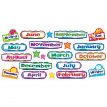 T-8705 - Monthly & Seasonal Headers Mini Bulletin Board Set in Holiday/seasonal
