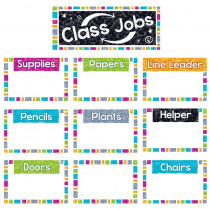 T-8780 - Wipe-Off Class Jobs Mini Bb St Color Harmony in Classroom Theme
