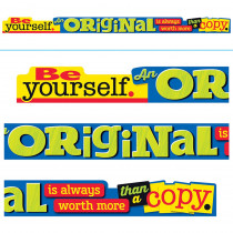 T-A25201 - Be Yourself An Original Is Always Worth More Than A Copy Banner in Motivational