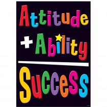 T-A67323 - Attitude + Ability = Success Poster in Motivational
