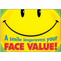 T-A67333 - A Smile Improves Your Face Value Argus Large Poster in Motivational