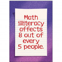 T-A67368 - Math Illiteracy Affects 8 Out Of Every 5 People Argus Large Poster in Math