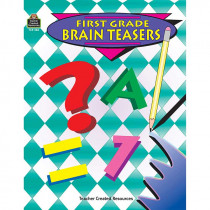 TCR0486 - First Grade Brain Teasers in Games & Activities