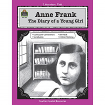 TCR0559 - Anne Frank The Diary Of A Young Girl Literature Unit Gr 5-8 in Literature Units