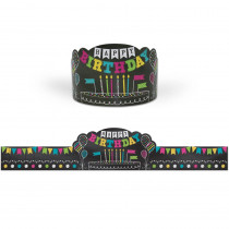 Chalkboard Brights Happy Birthday Crowns, Pack of 30 - TCR1211   Teacher Created Resources   Crowns