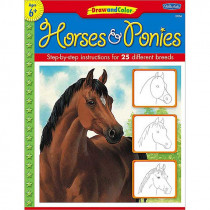 TCR18903 - Draw And Color Horses And Ponies in Art Activity Books