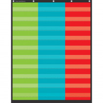"3 Column Pocket Chart, 34 x 44"" - TCR20324 