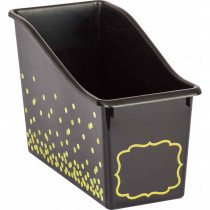TCR20336 - Black Confetti Plastic Book Bin in Storage