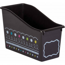 Chalkboard Brights Plastic Book Bin - TCR20341 | Teacher Created Resources | Storage Containers