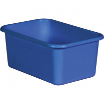 Blue Small Plastic Storage Bin - TCR20393 | Teacher Created Resources | Storage Containers