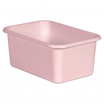 Blush Small Plastic Storage Bin - TCR20398 | Teacher Created Resources | Storage Containers