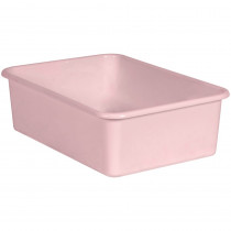 Blush Large Plastic Storage Bin - TCR20416 | Teacher Created Resources | Storage Containers
