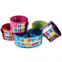 TCR20666 - Slap Bracelets Happy Birthday Balloons in Novelty